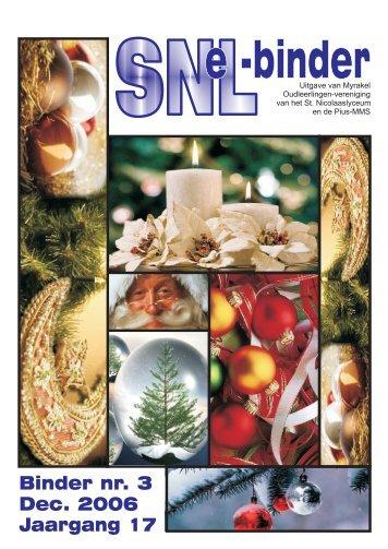 Jaargang 17 Binder nr. 3 Dec. 2006 - Myrakels