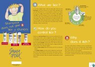 What are lice ? How do you control lice ? Why does it ... - shampoux