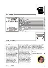 Jaargang 11 nr. 2/2000 9 oktober 2000 - Myrakels