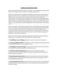 Leading Change by John P. Kotter - Syz.net