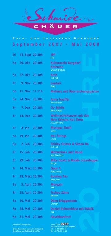Programm 2007/08 - Schmidechäuer