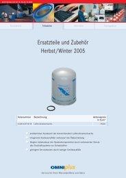 Ersatzteile und Zubehör Herbst/Winter 2005