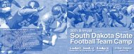 2013 SDSU Football Team Camp Brochure - South Dakota State ...
