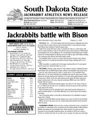 SDSU Women's Basketball Release, 2-11-10 - South Dakota State ...