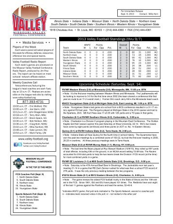 Weekly Release - Missouri Valley Conference