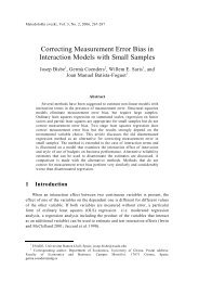 Correcting Measurement Error Bias in Interaction Models with Small ...