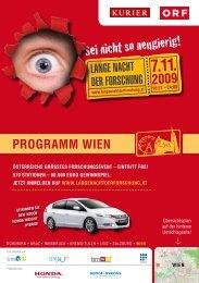 PROGRAMM Wien - Lange Nacht der Forschung 2012