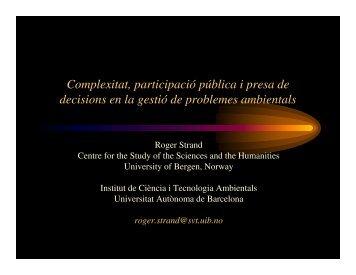 Complexitat, participació pública i presa de decisions en la gestió ...