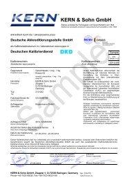 DEUTSCHER KALIBRIERDIENST (DKD) - KERN & SOHN GmbH