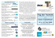 Flyer - Tag der Technik 2008