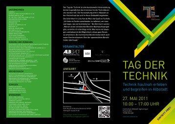 Flyer - Tag der Technik 2011