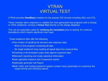 VTRAN VIRTUAL TEST - Source III, Inc.