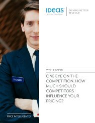 one eye on the competition: how much should competitors ... - Ideas