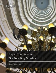 Impact Your Revenue, Not Your Busy Schedule - IDeaS