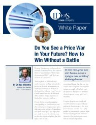Do You See a Price War in Your Future? How to Win Without ... - Ideas
