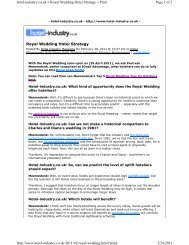 Royal Wedding Hotel Strategy Page 1 of 2 hotel-industry.co ... - IDeaS