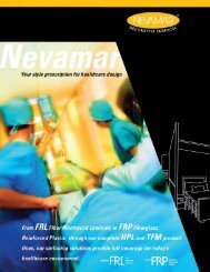 Nevamar® Health Care Brochure - Panolam
