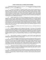 SYNTEST TECHNOLOGIES, INC. NONDISCLOSURE AGREEMENT ...