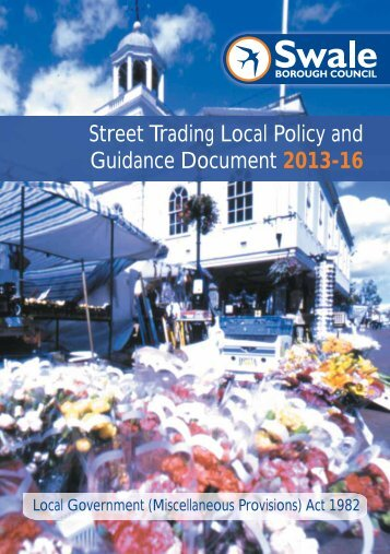 Street Trading Local Policy and Guidance Document ... - Documents