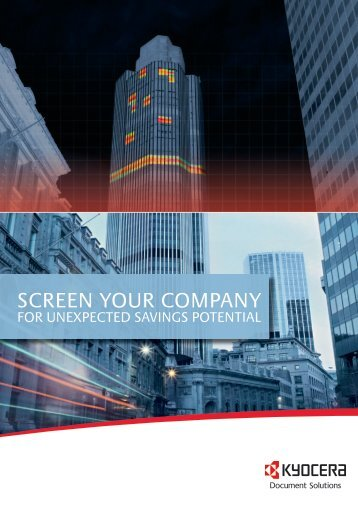 SCREEN YOUR COMPANY - KYOCERA Document Solutions
