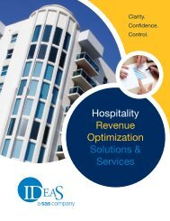 Hospitality Revenue Optimization Solutions & Services - IDeaS