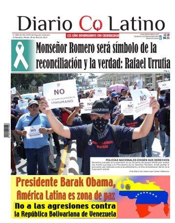 Edición 28 de Abril de 2015
