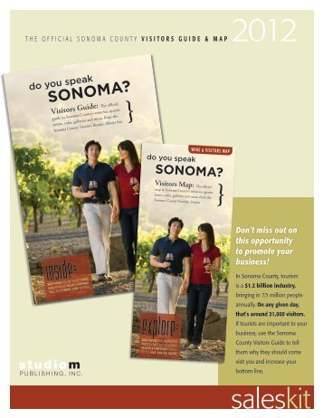 the official sonoma county visitors guide & map - Rohnert Park ...