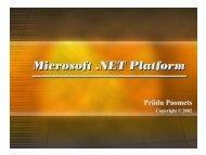 MS .NET Ülevaade
