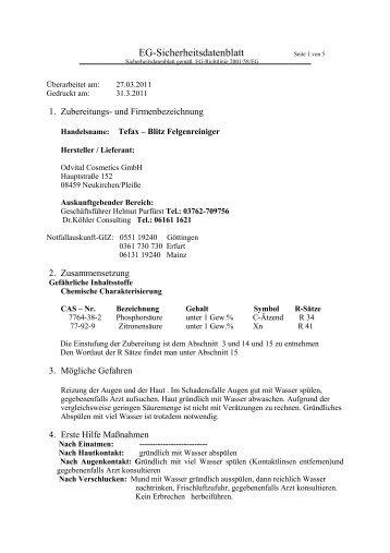 Tefax-Blitz Felgenreiniger-neu - Odvital Cosmetics