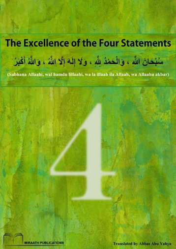 Miraath-Publications-The-Excellence-of-the-Four-Statements-2014