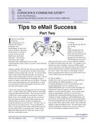 Email tips part 2 - Dr. Rick Brinkman