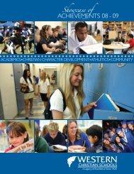 ACHIEVEMENTS 08 - 09 - Western Christian Schools
