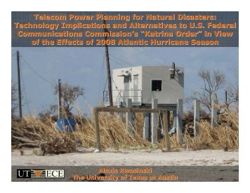 "Assessment of FCC Katrina's ""order"" - The University of Texas at ..."