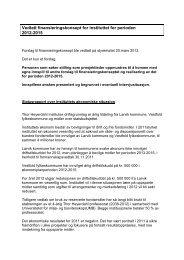 Vedtatt finansieringskonsept for instituttet for perioden 2012-2015