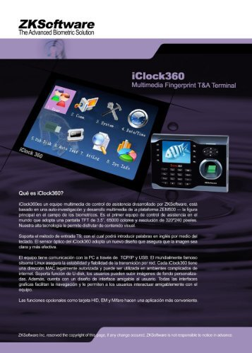 ZKsoftware iclock360 brochure espanol.pdf - Nvcadocs.info