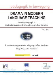 drama in modern language teaching - Fortbildung Ph-Wien ...
