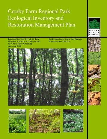 Crosby Farm Park Report - Great River Greening