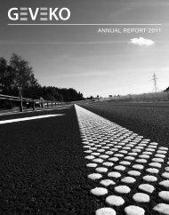 Annual report 2011 1.13 MB - Geveko