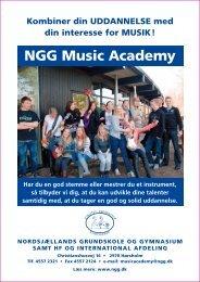 NGG Music Academy - Nordsjællands Grundskole og Gymnasium