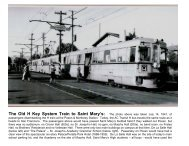The Key System Trains to Peralta Park - Saint Mary's College High ...