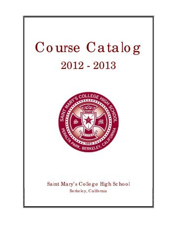 Course Catalog - Saint Mary's College High School