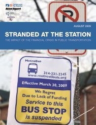 STRANDED AT THE STATION - Transit for Livable Communities
