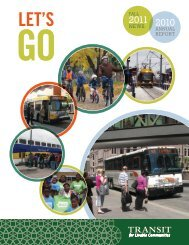 Fall/Winter 2011 newsletter and 2010 annual report - Transit for ...