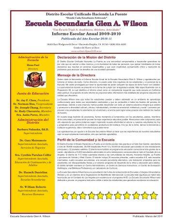 Wilson High 2009-10 SARC.indd - Axiomadvisors.net