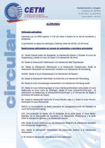 Restricciones y festivos Europa 2012.pdf - Fethuesca.es