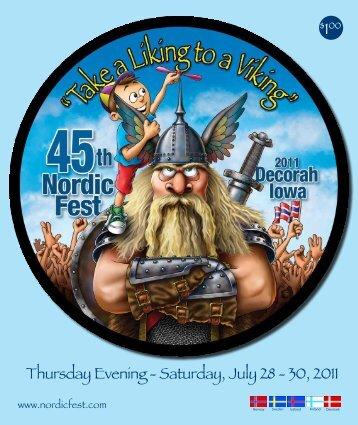 Thursday Evening - Saturday, July 28 - 30, 2011 - Nordic Fest