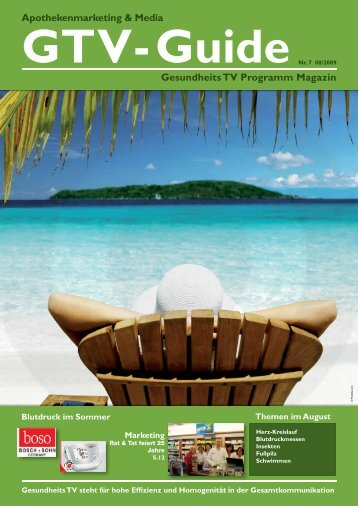 Apothekenmarketing & Media Gesundheits TV Programm Magazin