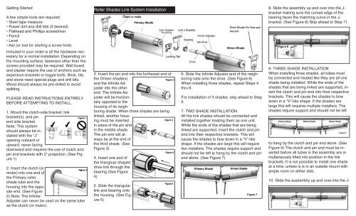 Roller Shades Link System Installation Skandia Window Fashions