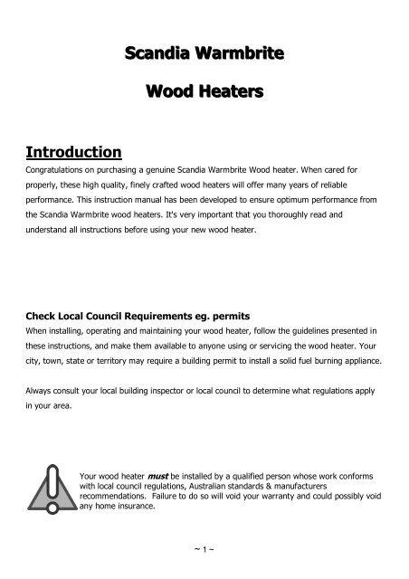 Download manual & warranty information - Scandia Stoves & Spares