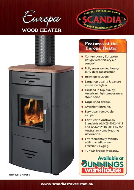 WOOD HEATER - Scandia Stoves & Spares